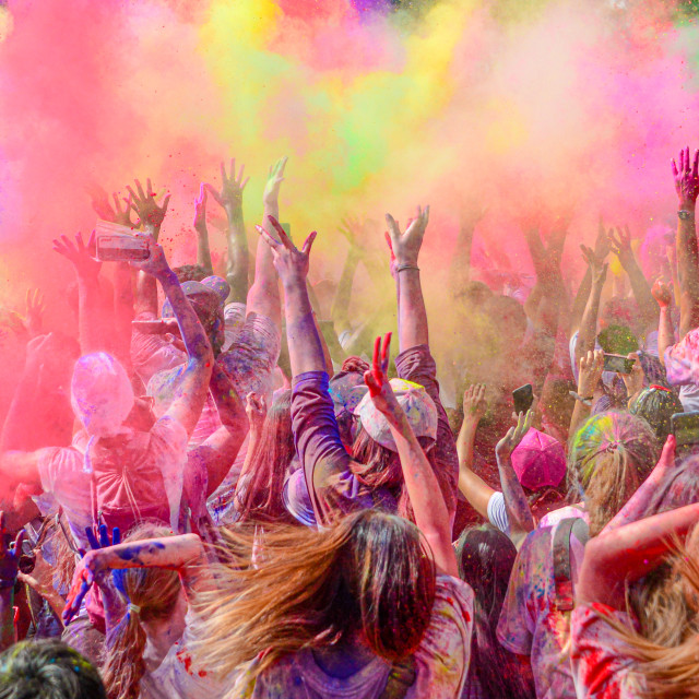 """""""Colourful Explosion of Energy"""" stock image"""