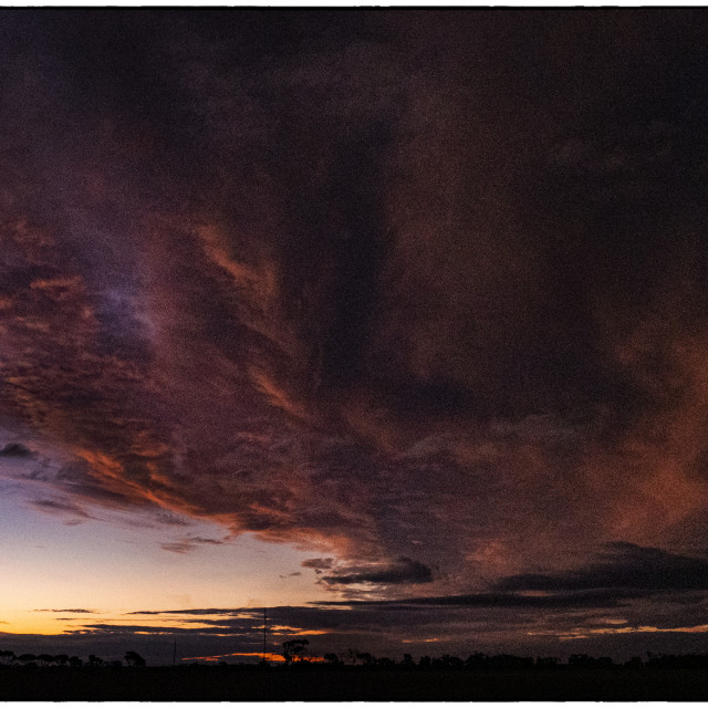 """""""Stormy Sky on the Plains"""" stock image"""