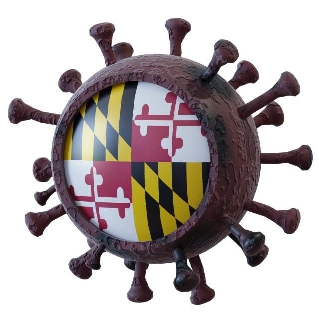 """Maryland vs covid19 fight"" stock image"