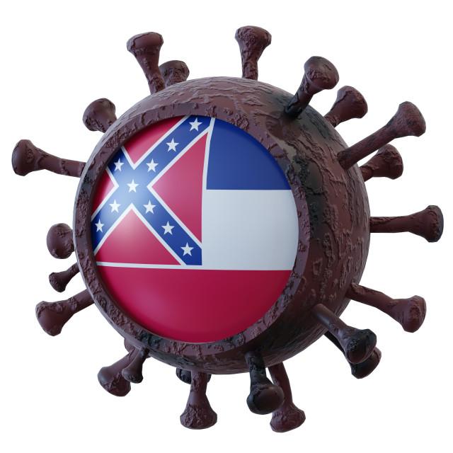 """Mississippi vs covid19 fight"" stock image"