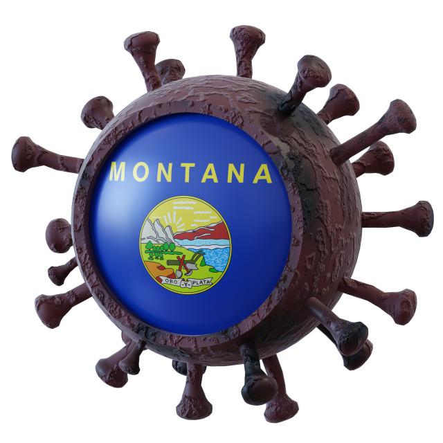 """Montana vs covid19 fight"" stock image"