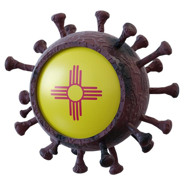 """""""New Mexico vs covid19 fight"""" stock image"""