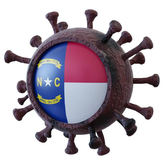 """""""North Carolina vs covid19 fight"""" stock image"""