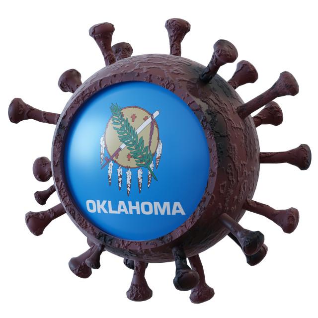 """""""Oklahoma vs covid19 fight"""" stock image"""