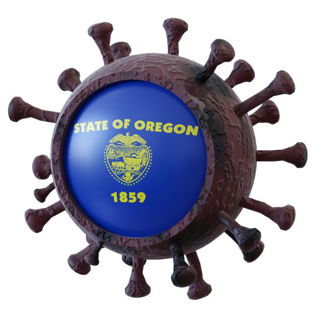 """""""Oregon vs covid19 fight"""" stock image"""