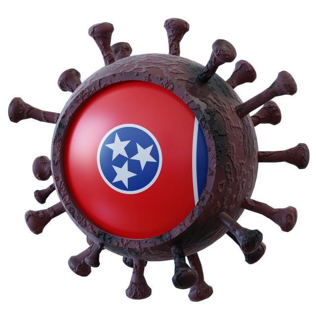 """Tennessee vs covid19 fight"" stock image"