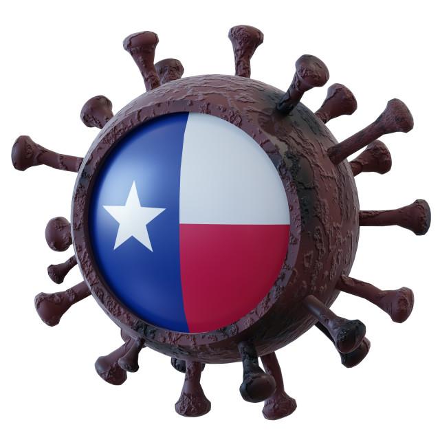 """Texas vs covid19 fight"" stock image"