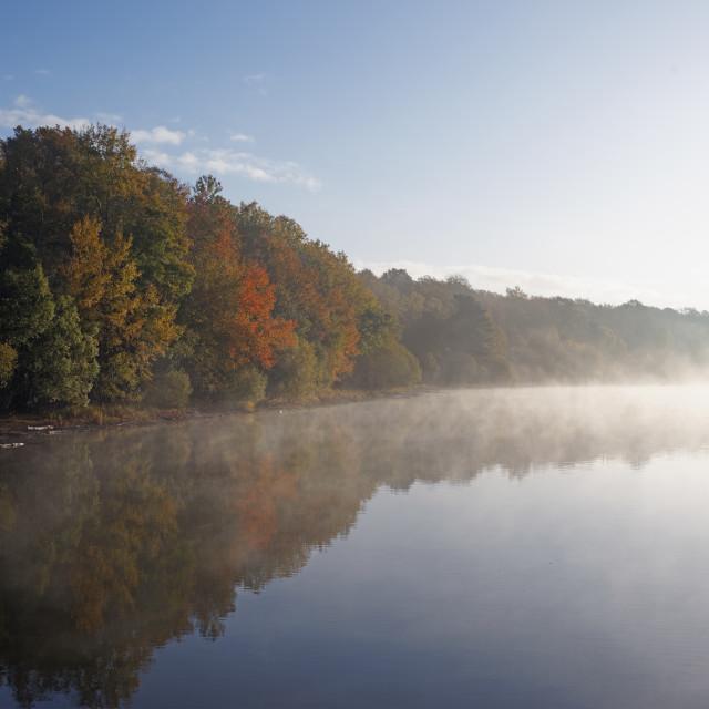 """Fog lake"" stock image"
