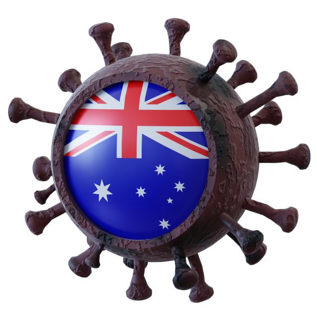 """""""Australia vs covid19 fight"""" stock image"""