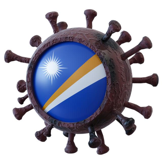 """Marshall Islands vs covid19 fight"" stock image"