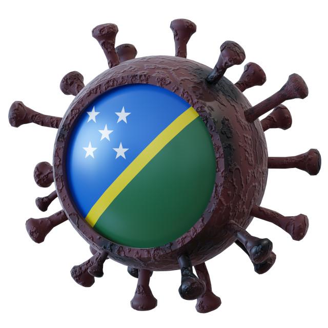 """""""Solomon Islands vs covid19 fight"""" stock image"""