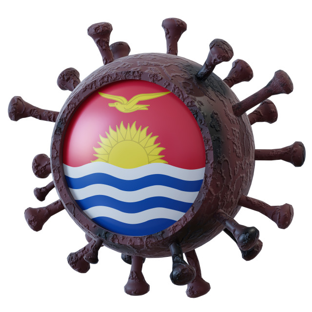 """Kiribati vs covid19 fight"" stock image"