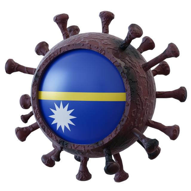 """Nauru vs covid19 fight"" stock image"