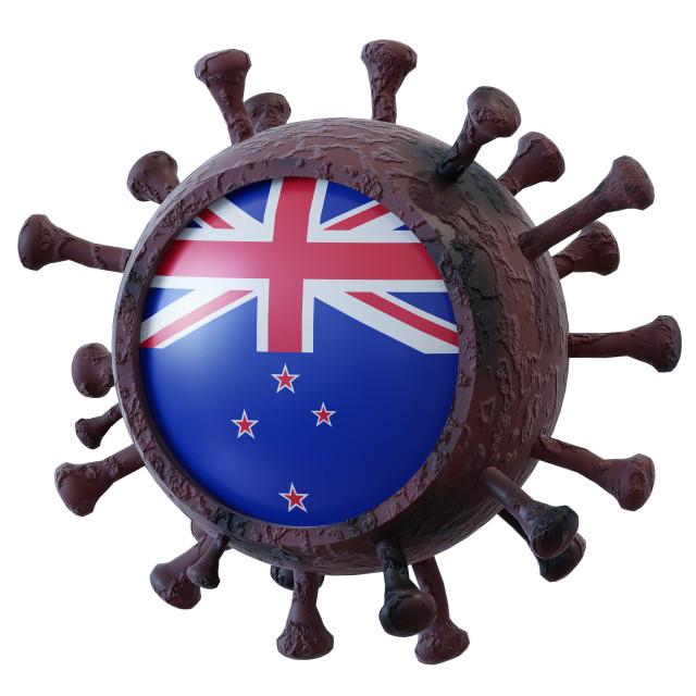 """""""New Zealand vs covid19 fight"""" stock image"""