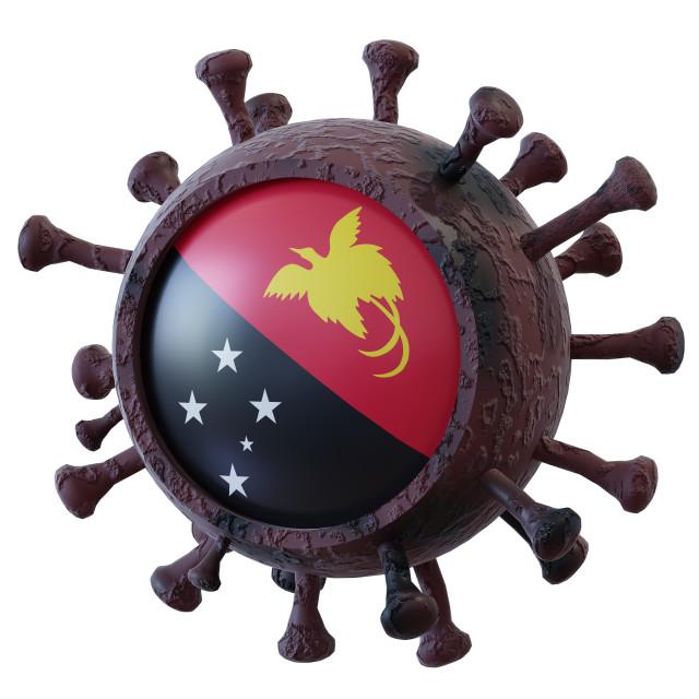 """""""Papua New Guinea vs covid19 fight"""" stock image"""