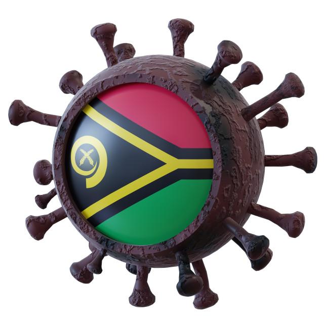 """Vanuatu vs covid19 fight"" stock image"