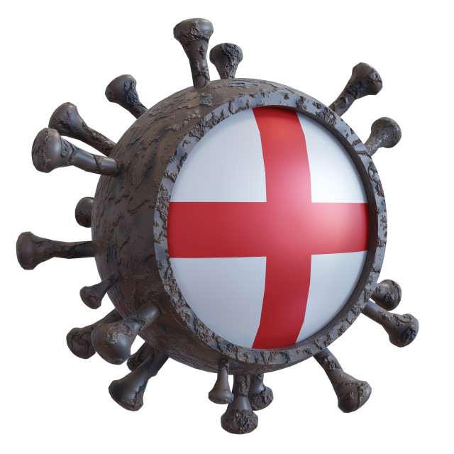"""England vs covid19 fight"" stock image"