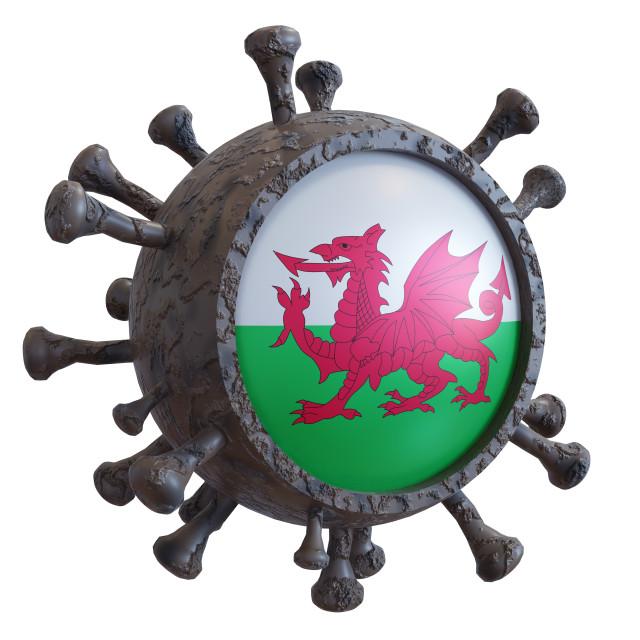 """Wales vs covid19 fight"" stock image"