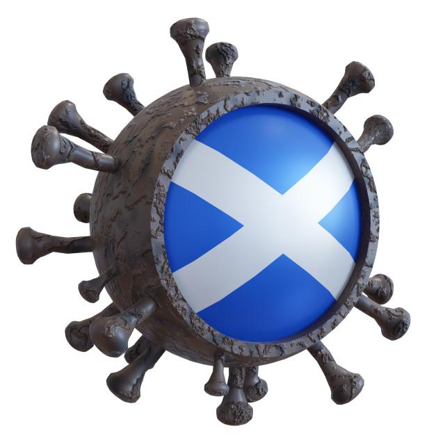 """""""Scotland vs covid19 fight"""" stock image"""