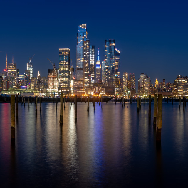 """New York City Blue Hour"" stock image"