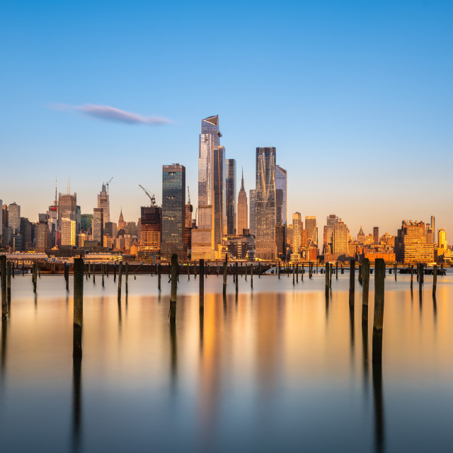 """New York City Golden Hour"" stock image"