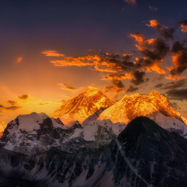 """Everest Burst"" stock image"
