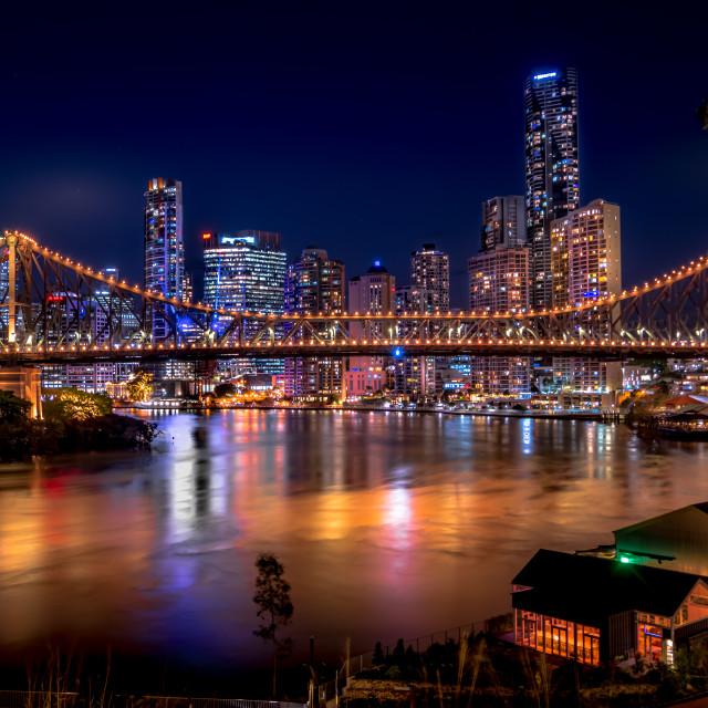 """Brisbane River Nights"" stock image"