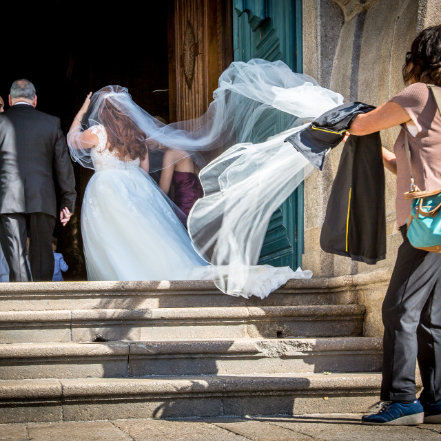 """Helping the Bride"" stock image"