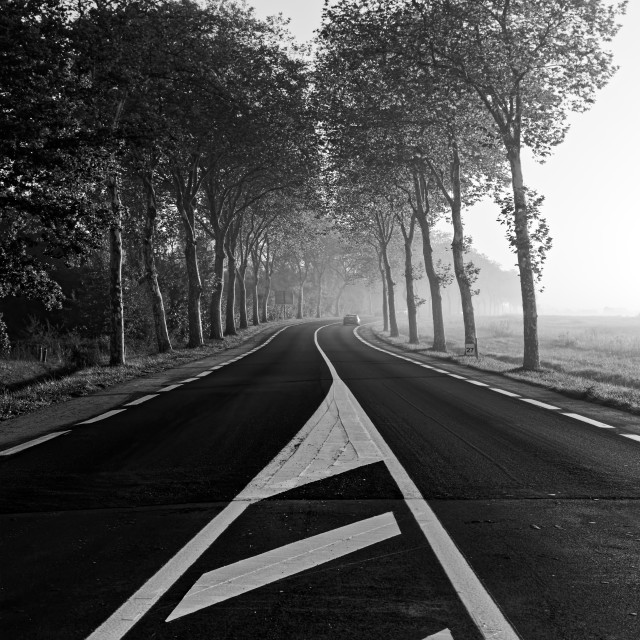 """""""On the road"""" stock image"""