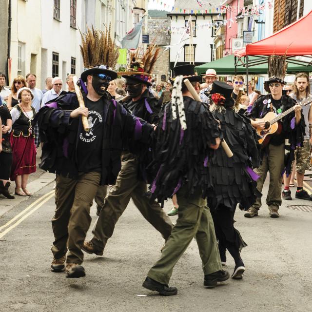 """Grimspound Border Morris Dancers"" stock image"