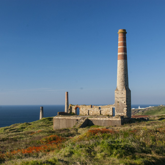 """""""Levant Power House, Pendeen, Cornwall"""" stock image"""