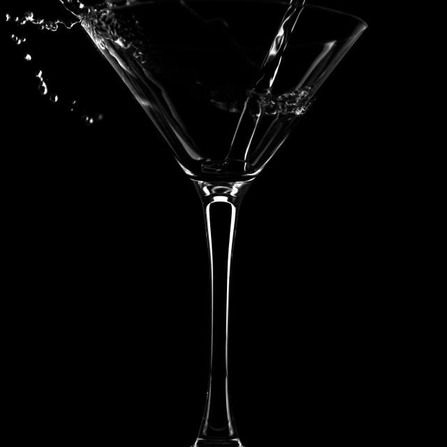"""Glass with vodka splash"" stock image"