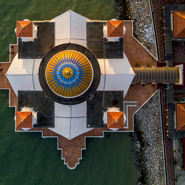 """""""Melaka Straits Mosque 01"""" stock image"""
