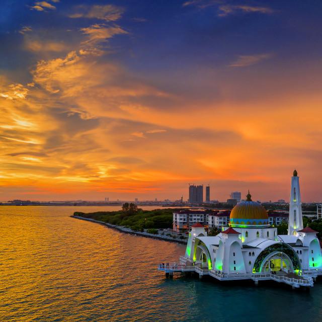 """""""Melaka Straits Mosque 02"""" stock image"""