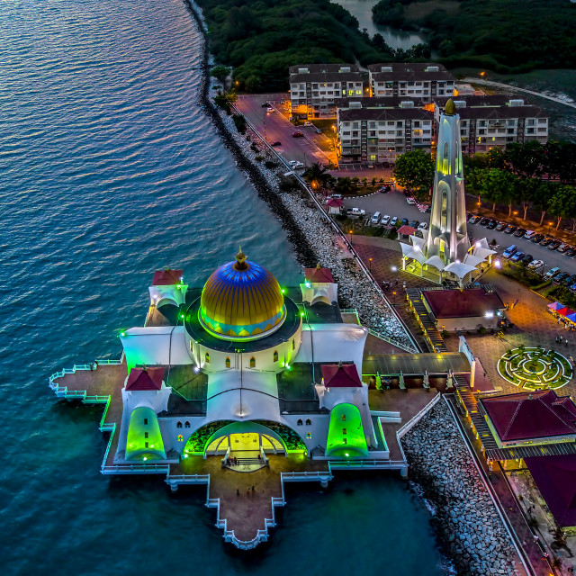 """""""Melaka Straits Mosque 03"""" stock image"""