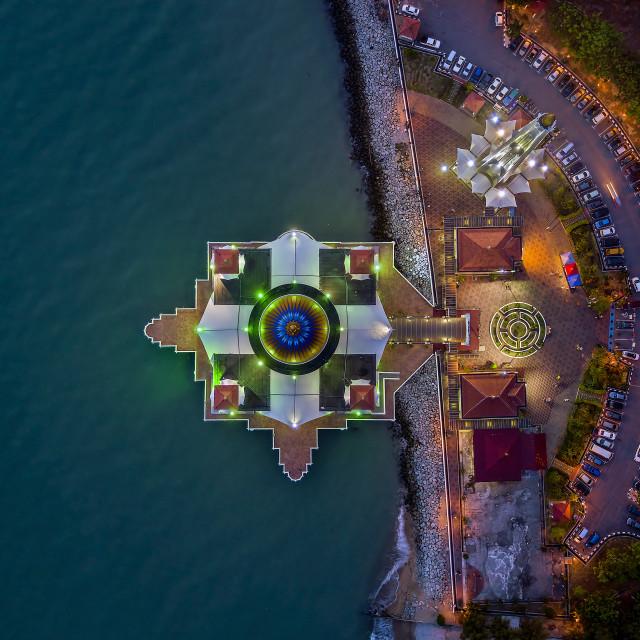 """""""Melaka Straits Mosque 04"""" stock image"""