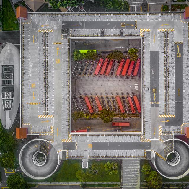 """""""Integrated Bus Terminal - Car Park"""" stock image"""