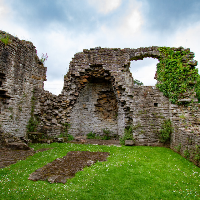 """""""The Ruins of The Abbey of St Agatha, Easby, Nr Richmond, Yorkshire."""" stock image"""