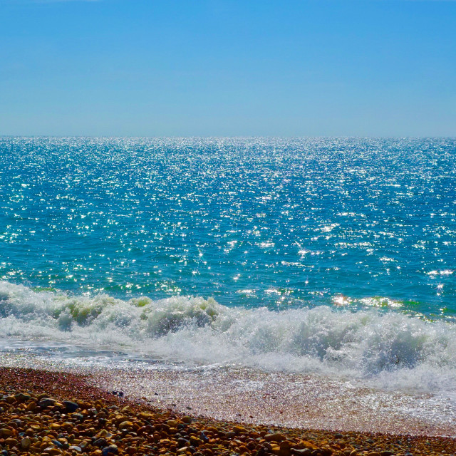 """""""Sparkling Blue Ocean At Seaford Bay"""" stock image"""