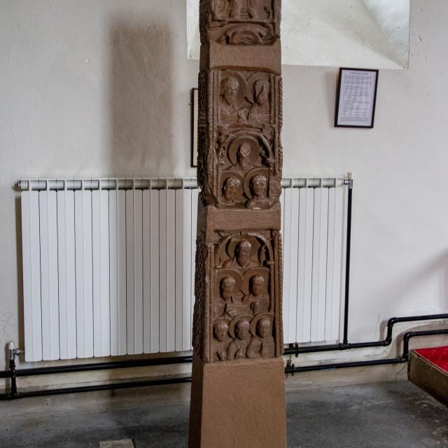 """Parish Church of Saint Agatha, Easby, near Richmond, North Yorkshire"" stock image"