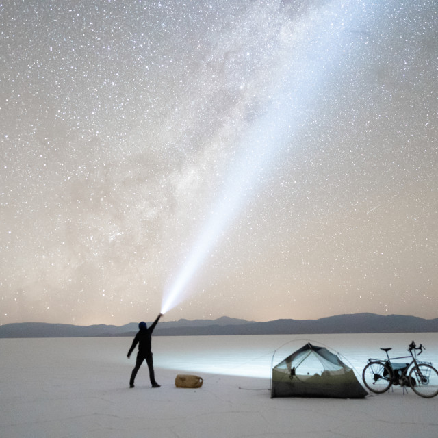 """""""THE ADVENTURE UNDER THE STARS"""" stock image"""