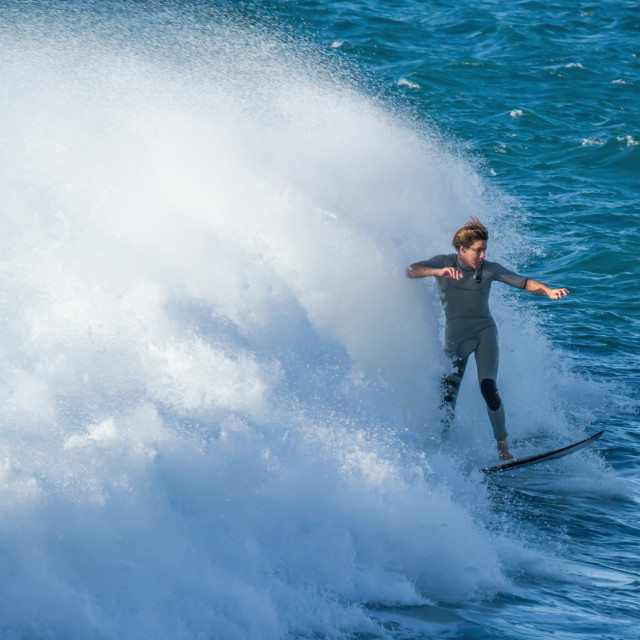 """Final wave of the day - Surfer"" stock image"