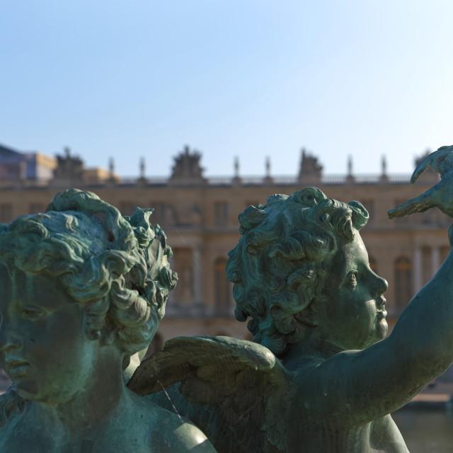 """Versailles statues"" stock image"