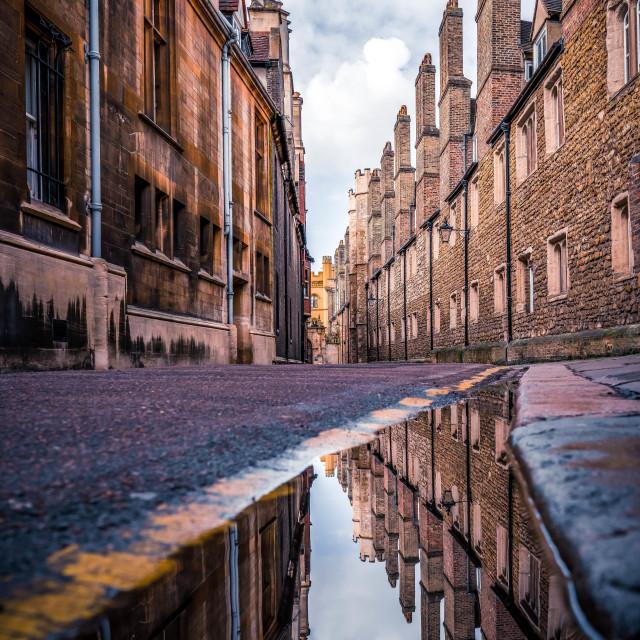 """Trinity Lane, Cambridge UK."" stock image"