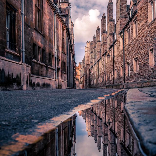 """Trinity Lane, Cambridge UK"" stock image"