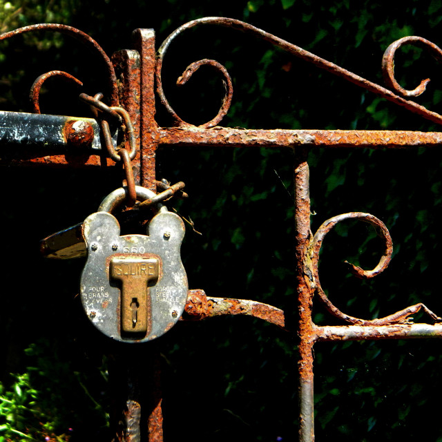 """Locked gate"" stock image"