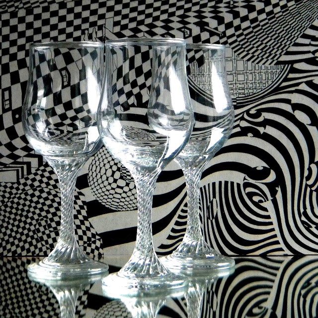 """Drinking glasses"" stock image"