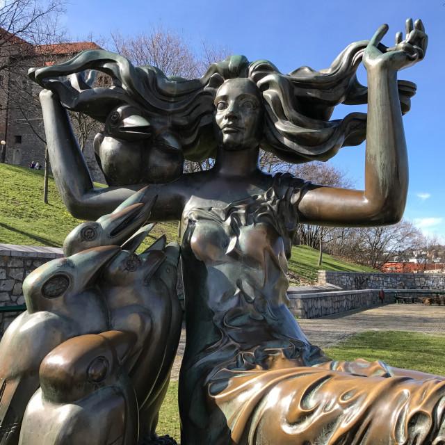 """Bronze Mermaid"" stock image"