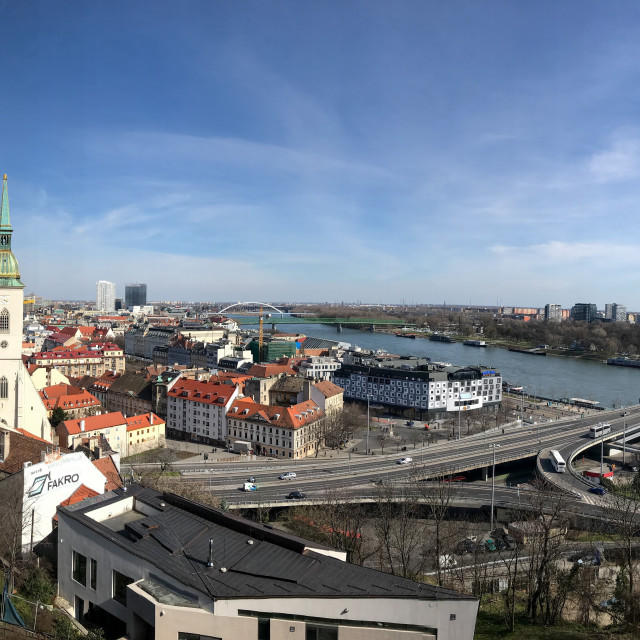 """Bratislava Panoramic"" stock image"