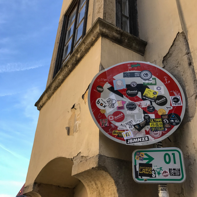 """Bratislava Sticker Art"" stock image"